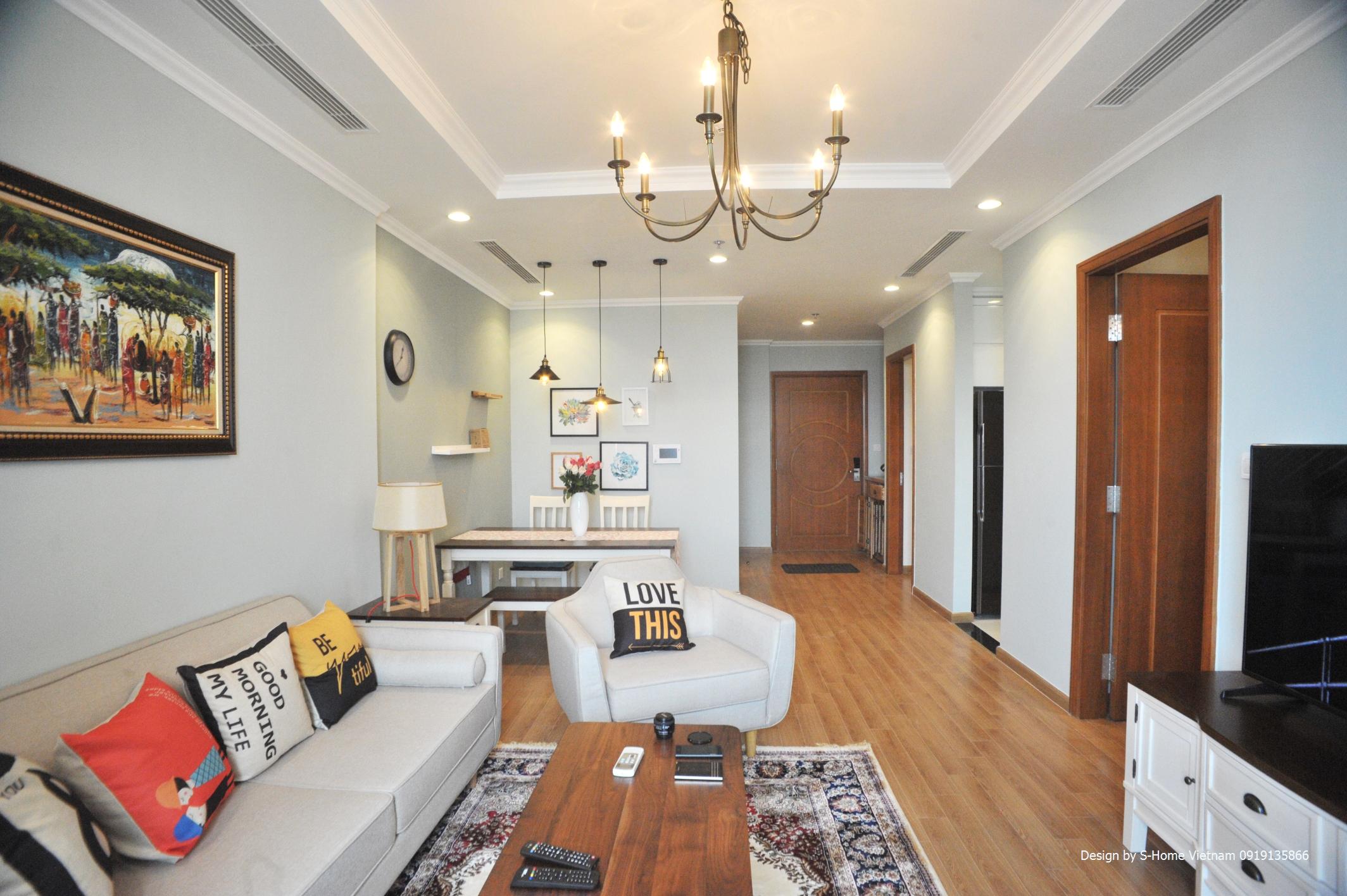 Vinhomes Nguyen Chi Thanh アパートにおける2BRお部屋です。